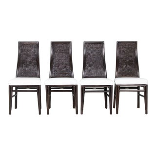 David Francis Kenya Dining Side Chairs- Set of 4 For Sale