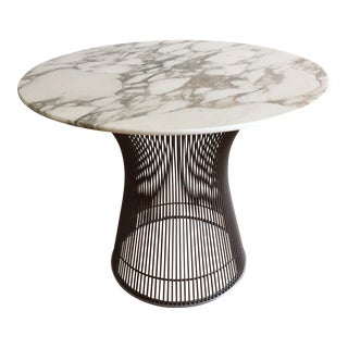 1960s Mid Century Modern Knoll Platner Marble Top Side Table For Sale
