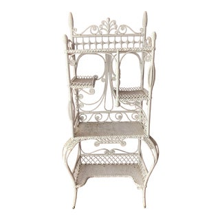 Late 19th Century Antique Wicker Etagere For Sale