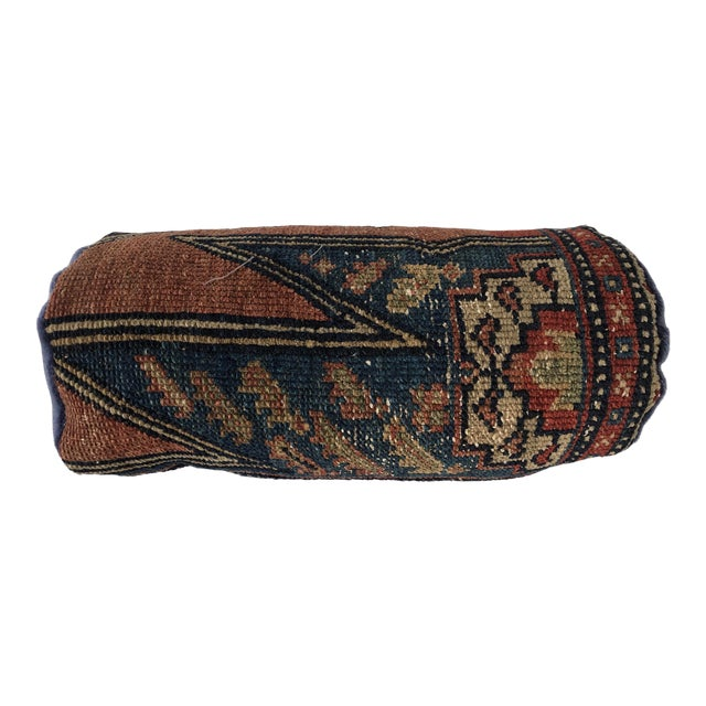 Antique Persian Rug Bolster Pillow Saliha by Design For Sale