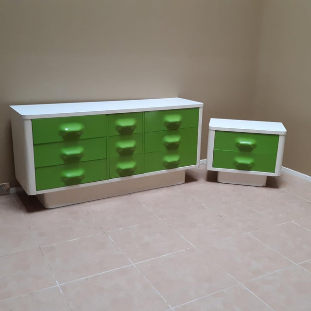 Space Age Modern Series Chaster Dresser Set by Broyhill Premier-a Pair For Sale - Image 13 of 13