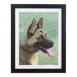 Dog Art | German Shepherd Portrait | Vintage String Art For Sale