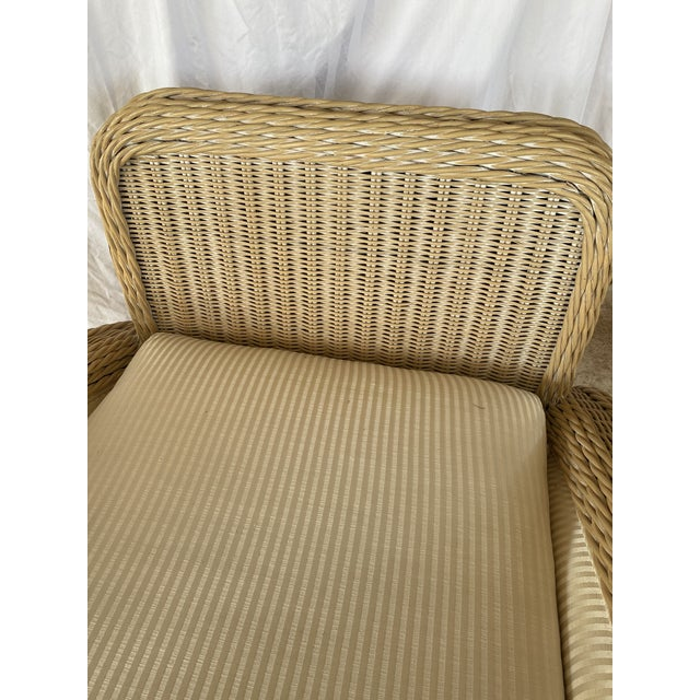 Coastal Wicker Braid Lounge Chair For Sale - Image 11 of 13