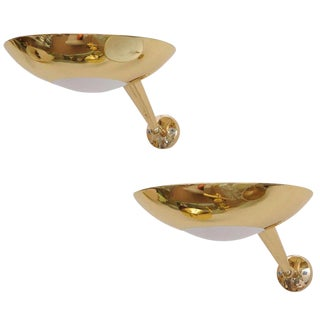 Stilnovo Gilt Bronze Sconces - A Pair For Sale