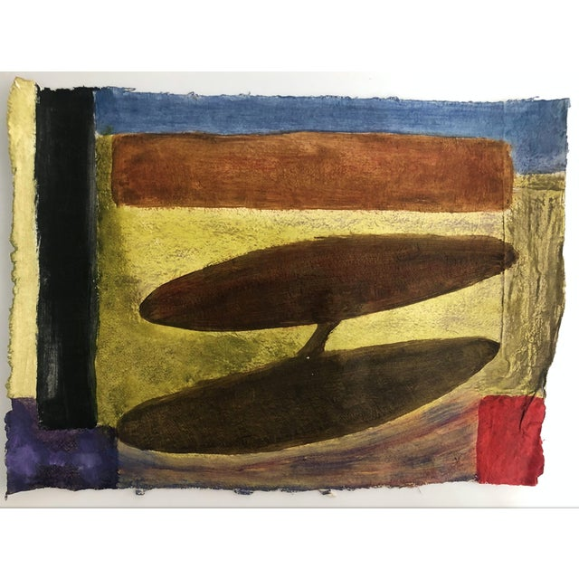 1960s Abstract Tribal Painting Richard Goodwin 1960s For Sale - Image 5 of 5