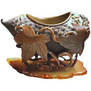 Meiji Period Bronze Brush Washer For Sale