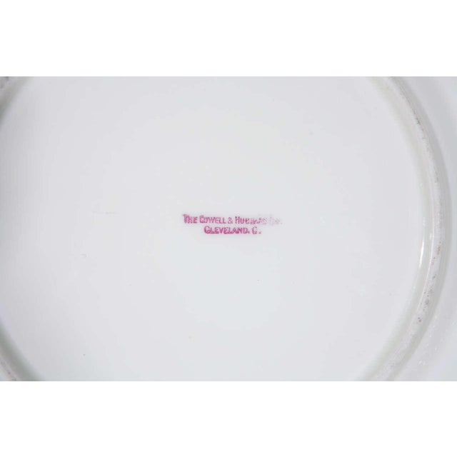 1970s Cauldon English Plates Retail by Cowell and Hubbard Company Set of 12 For Sale - Image 5 of 9