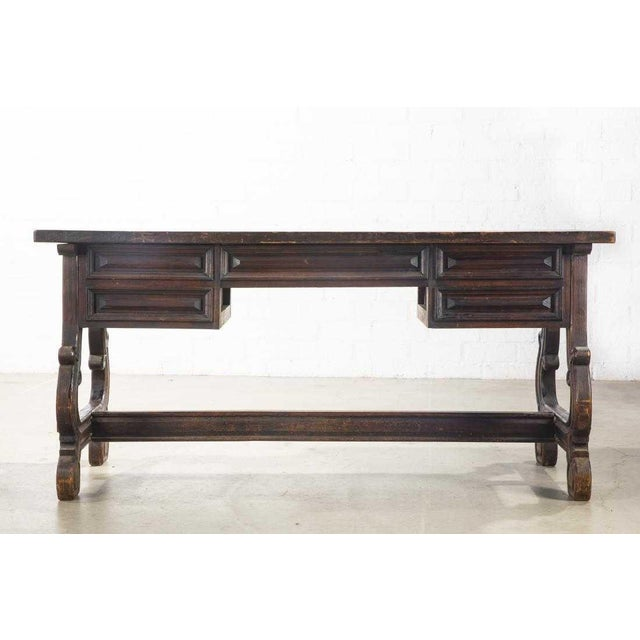 Antique Spanish Colonial Library Writing Table