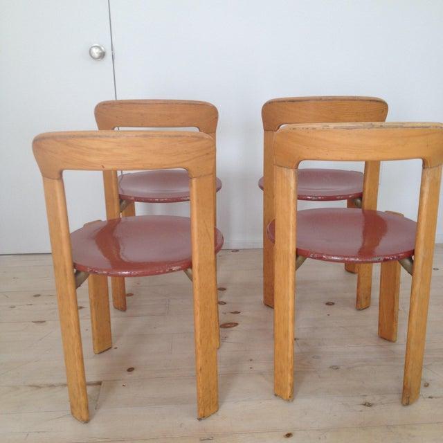 Danish Modern Swiss Co. Dieteker Bruno Rey Stacking Chair For Sale - Image 3 of 7