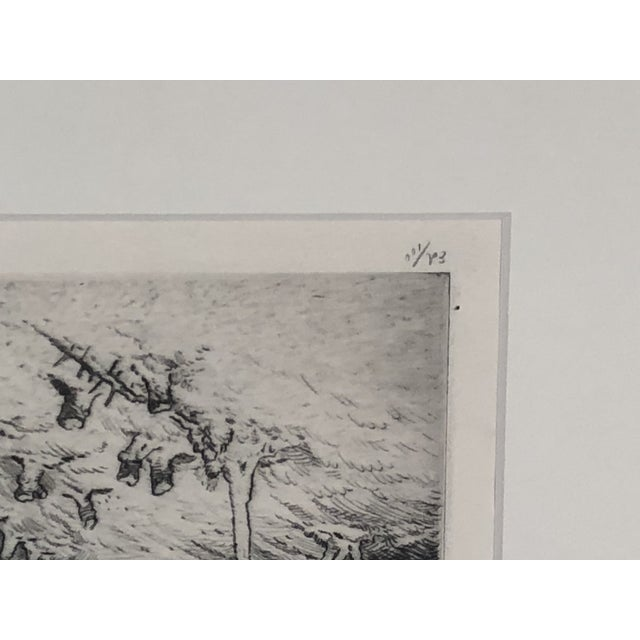 """Black """"Mountain Farms Near Spruce Pine, North Carolina"""" Etching by Harrison Cady For Sale - Image 8 of 13"""