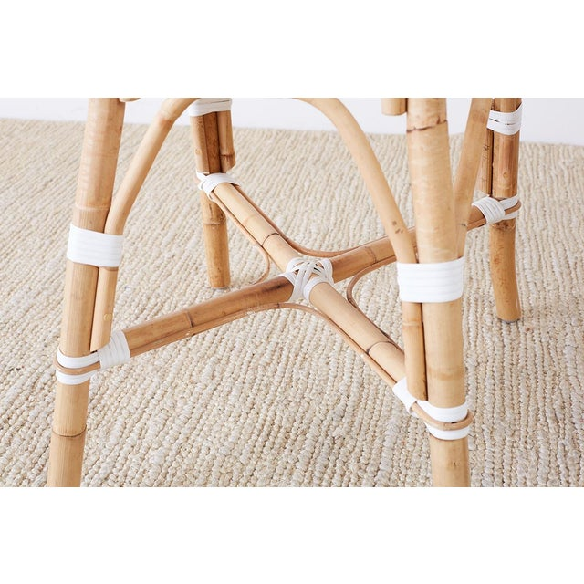 Serena and Lily Bamboo Riviera Rattan French Bistro Chairs For Sale - Image 11 of 13