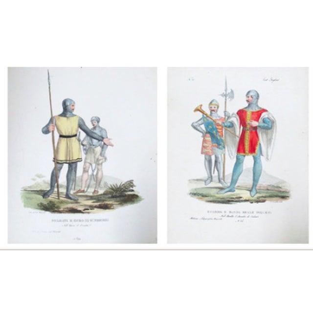 C. 1799 Vintage Italian Prints of Soldiers - Pair For Sale