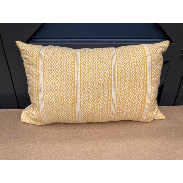 Fortuny Yellow Tapa Stripe Pillow For Sale In Philadelphia - Image 6 of 6