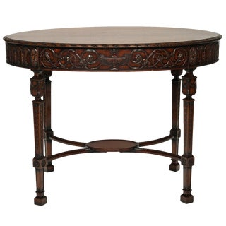 19th Century English Traditional Oval Sheraton Style Centre Table For Sale