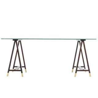 1960s Campaign Arturo Pani Trestle Console Table For Sale
