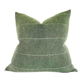 Faso Striped Pillow Cover in Drake Green For Sale