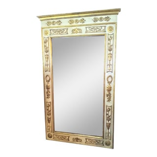 Vintage Italian Trumeau Mirror in Pale Tones For Sale