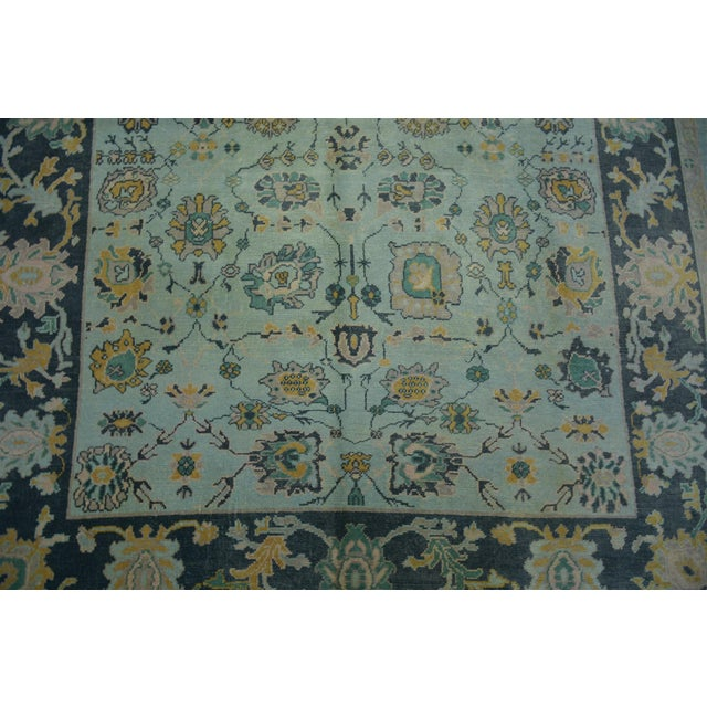 Product Code : AMC043 •Size: 5'10″x8'0″ feet, 177×246 cm •Material : Wool & Wool •Age: New Rug Oushak ( Looked antique )...
