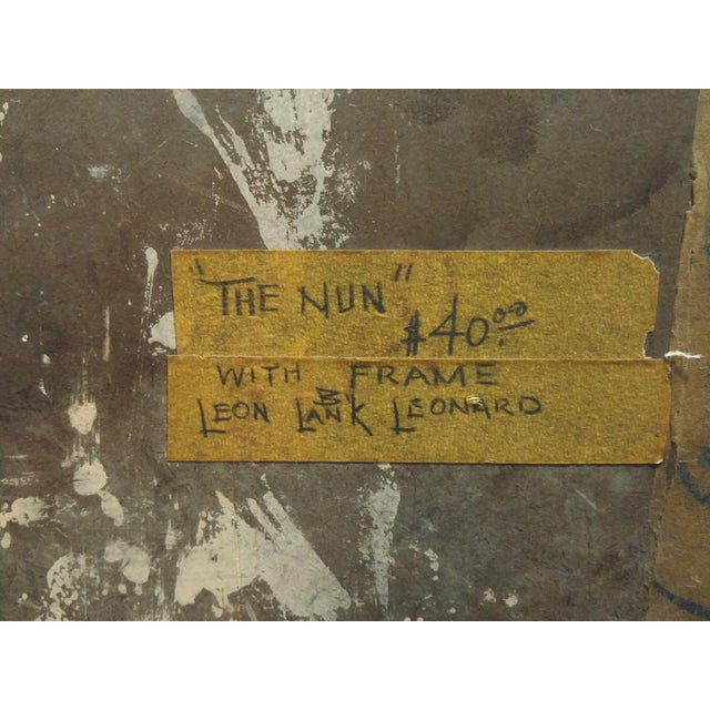 """""""The Nun"""" Encaustic Painting 1960 by Leon Lank Leonard For Sale - Image 4 of 5"""