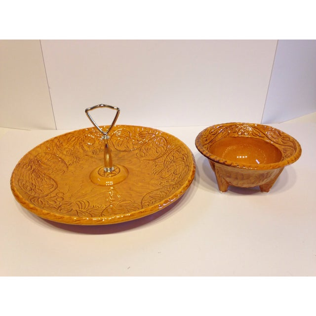 Vintage 1966 CA Pottery Chip & Dip Dishes - A Pair - Image 2 of 6