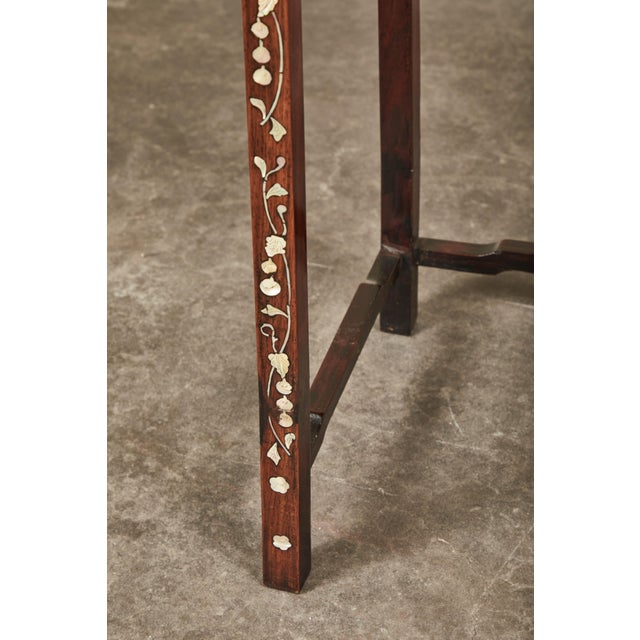 19th C. Side Table With Mother-Of-Pearl Inlay For Sale In Los Angeles - Image 6 of 8