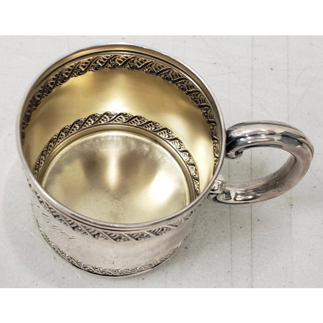 Late 19th Century Late 19th Century Sterling Silver Christening Cup C.1896 For Sale - Image 5 of 8