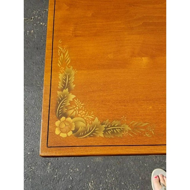 L. Hitchcock Furniture Harvest Trestle Table with 2 Leafs - Image 6 of 8