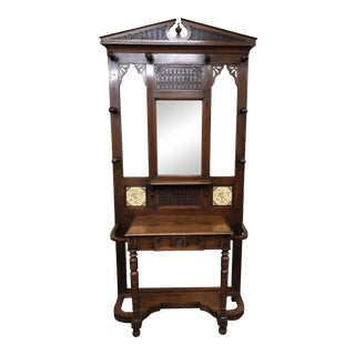 Victorian Style Hall Tree by Lillian August Furnishings For Sale