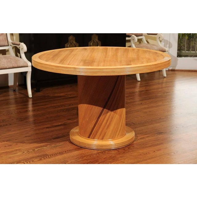 Elegant Circular Center or Dining Table by Bielecky Brothers For Sale - Image 9 of 10