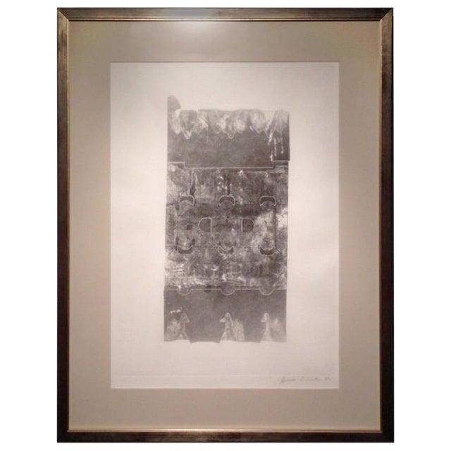 Maria Simoni Original Framed Pressed Serigraph For Sale