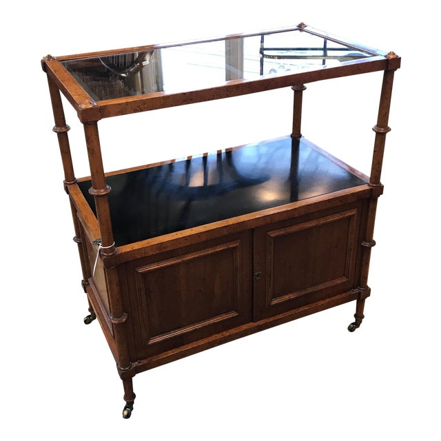 Two Tier Wooden Bar Cart - Image 1 of 9