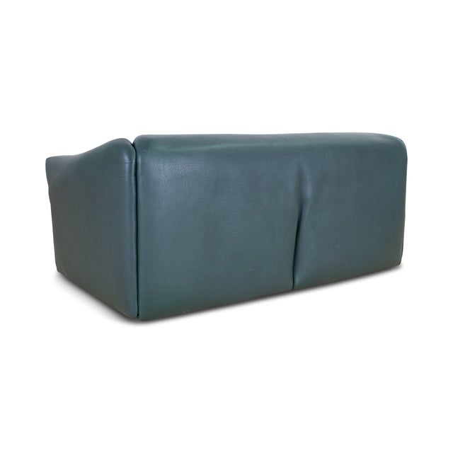 De Sede DS 47 Sofa in Petrol Green Leather For Sale - Image 6 of 12