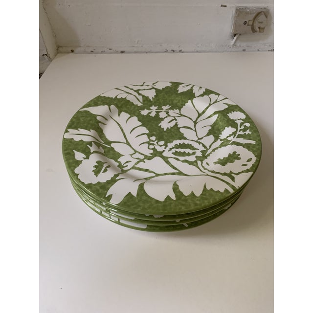 1990s Roscher Ambiance Collection Green Dinner Plates - Set of 4 For Sale - Image 5 of 9