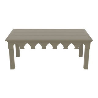 Oomph Ocean Drive Rectangle Outdoor Coffee Table, Taupe For Sale