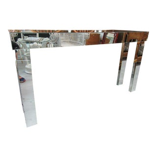 Mirrored Parson Style Console Table