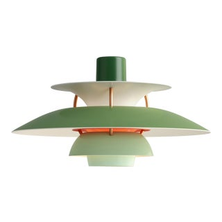 Poul Henningson Green PH5 Mini Pendant for Louis Poulsen For Sale