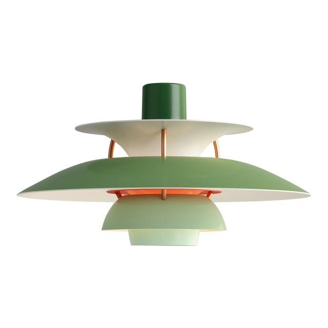 Poul Henningson Green PH5 Mini Pendant for Louis Poulsen For Sale