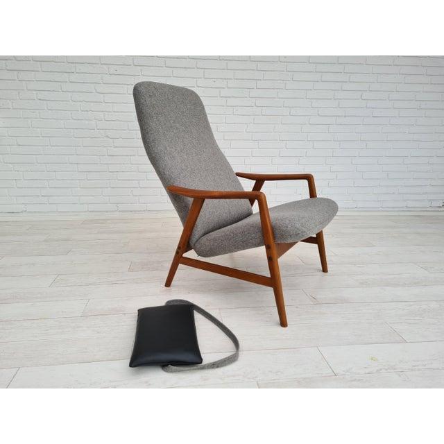 1970s Danish Design by Alf Svensson, Model Kontour, 70s, Completely Renovated-Reupholstered For Sale - Image 5 of 13