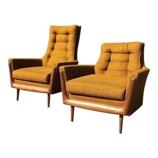 1960s Mid-Century Modern Bassett Prestige Lounge Chairs - a Pair For Sale