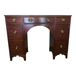 Baker Charleston Cherrywood Bow Front Sideboard Desk For Sale