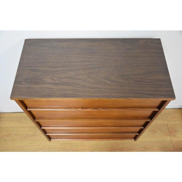 Walnut & Formica Tall Dresser - Image 5 of 9