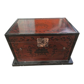 Enameled Wood Trunk For Sale