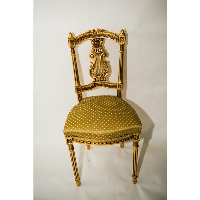 Antique Giltwood Salon Chair - Image 10 of 10 - Antique Giltwood Salon Chair Chairish