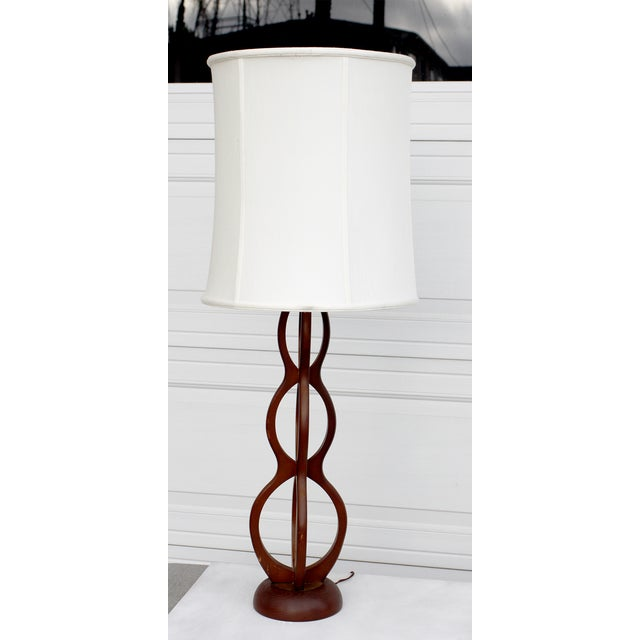 Mid Century Modern Wooden Sculptural Table Lamp - Image 3 of 7