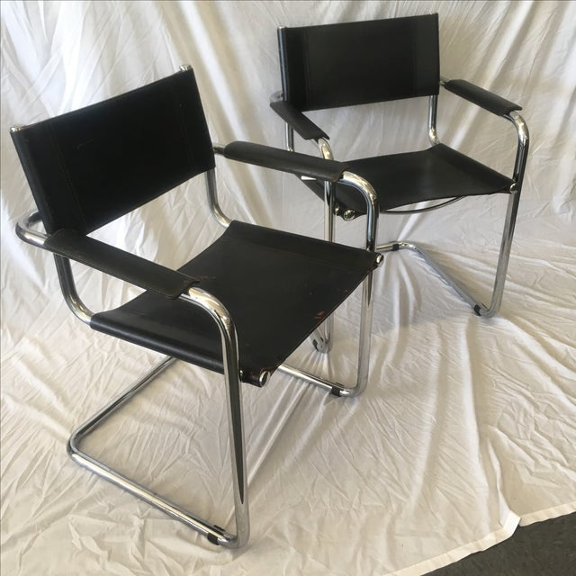 Cantilever Chairs by Marcel Breuer - Pair - Image 2 of 10