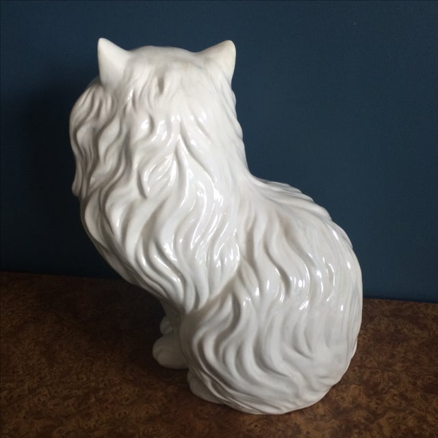 White Ceramic Cat - Image 6 of 8