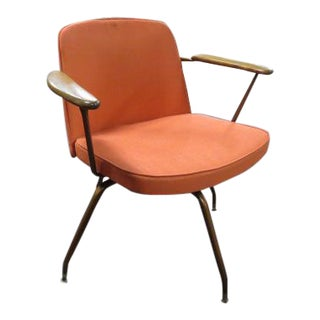 Vintage Mid Century Modern Viko Baumritter Swivel Chair For Sale