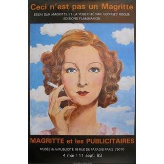 """1983 French Exhibition Poster - """"Ceci N'est Pas Un Magritte."""" - Magritte Et Les Publicitaires For Sale"""