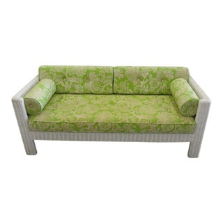Palm Beach Modern Wicker Sofa For Sale