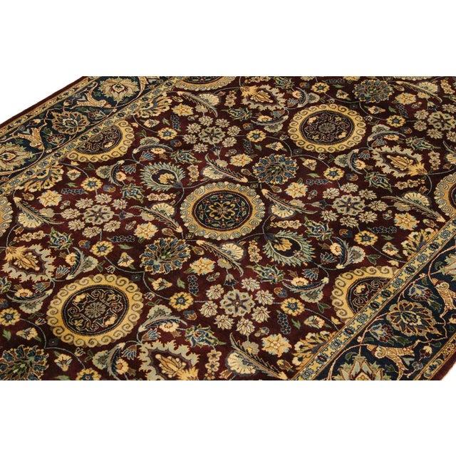 2010s Agra Tabriz 16x18 Veg. Pak-Persian Lisabeth Purple/Blue Wool Rug - 4'7 X 7'3 For Sale - Image 5 of 8